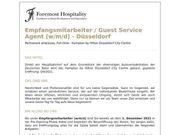 Empfangsmitarbeiter Guest Service Agent m