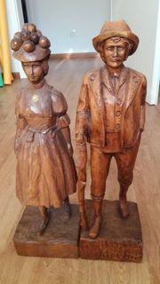 Holzfiguren Mann und Frau