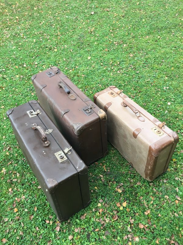 Koffer antik Vulcanfibre Material 3