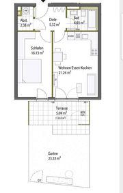 Erstbezug 2-Zimmer Terrassenwohnung ab sofort