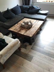 Sofa-Tisch Massivholz Handarbeit Unikat