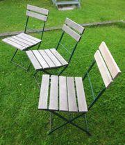 3 alte Gartenstühle
