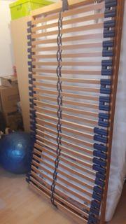 Lattenrost 2x1m Matratze dazu