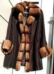 Winterkurz Mantel mit Nerzbesatz Tavena