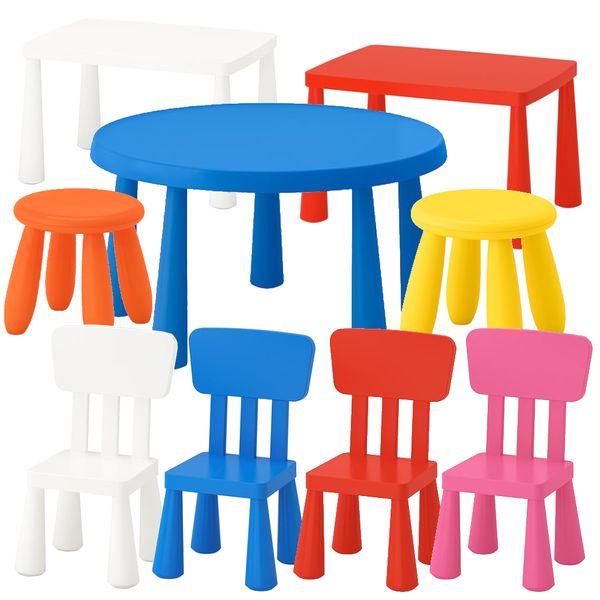 Ikea Mammut Stühle Verschiedene Farben Und Runder Tisch Blau In