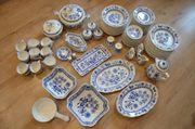 Hutschenreuther Porzellan Service Zwiebelmuster Blau