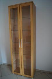 Vitrine 2 türig aus Holz