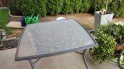 Gartentisch Tisch mit Granitplatte