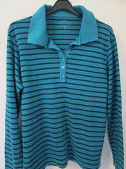 Damen-Poloshirt dkl grün m schwarzen