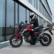 Motorrad Lederkombi Damen 2-Teiler von