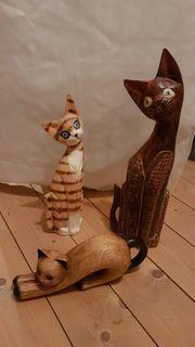 Holzkatzen komplett