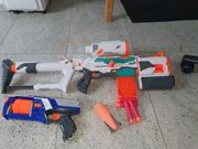 Nerf Tri-Strike und Strongarm