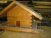 Vogelhaus aus Holz Almbauweise