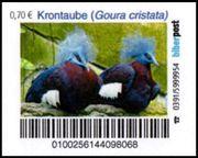 Biberpost Vögel Krontaube Satz postfrisch