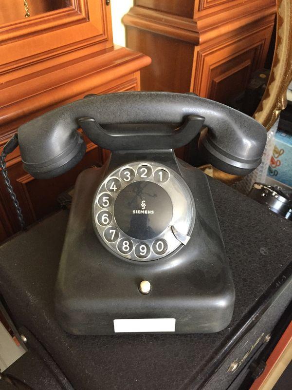 Bakelit Telefon W48 Siemens ohne