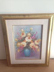 Wandbild bunter Blumenstrauß
