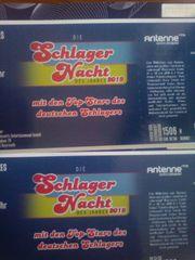 2 Eintrittskarten für die SCHLAGERNACHT