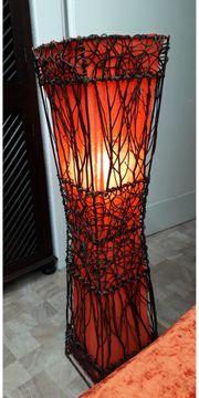 Neue colle Rattanlampe fürs Schlafzimmer
