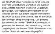Tempur Matratze Cloud 21 - 90