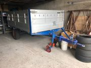 Traktor Anhänger Aluaufbau Gebremst