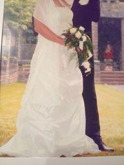 Cremefarbenes Brautkleid Gr 40