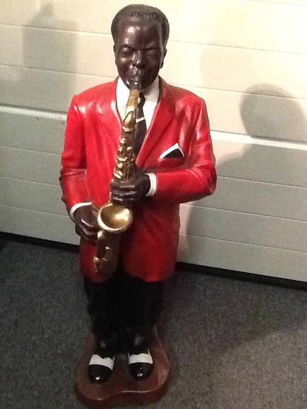 Dekofigur Jazzmusiker mit Saxophon