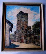 2 Gemälde Gefangenenturm Niederbrechen Limburg