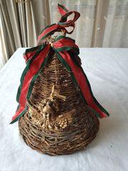 Weihnachtsdekoration antik Glocke Weide zum