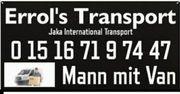 Transporter Umzüge Mann mit Van