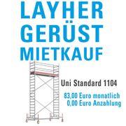 Layher Uni Standard Rollgerüst - Mietkauf