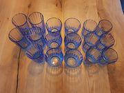 17 Stück Gläser in blau