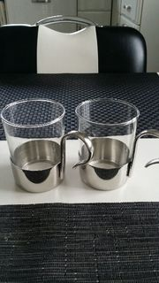 zwei Teegläser von WMF Cromargan