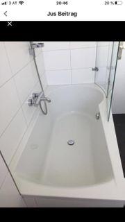 Badewanne mit Glaswand Duschwand und