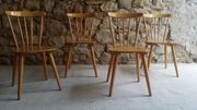 1 v 6 Holz Stühle