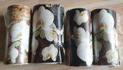 4x Borte Bordüre Orchideen - selbstklebend