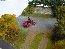 Bild 4 - Diorama Motorrad Beiwagen Gespann Harley - Niederviehbach