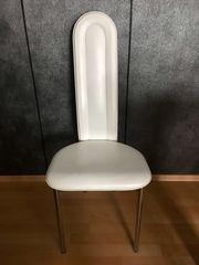 Stuhl weiß zu verschenken - Sitzmöglichkeit