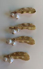 4 neue Haarspangen Federn mit