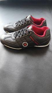 Ferrari Sneaker Halbschuhe schwarz rot