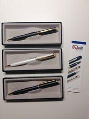 Drei schöne unbenutzte Quill Drehkugelschreiber