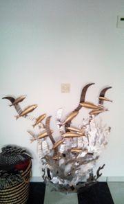 Wandbild Fische Metall
