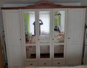 Schlafzimmerschrank weiß Echtholz 5-türig