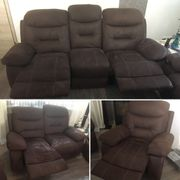 Polstergarnitur 3-2-1 Sofa Couch mit Relaxfunktion