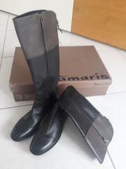 Tamaris gefütterte Stiefel Damen Leder
