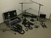 Professionelles Schlagzeugaufnahme Equipment