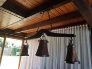 Interessante Lampe 1972 3 Schirme