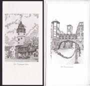 Briefkarten mit Frankfurt-Motiven um 1980