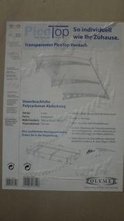 Haustürvordach Pultvordach Pico Top 1800