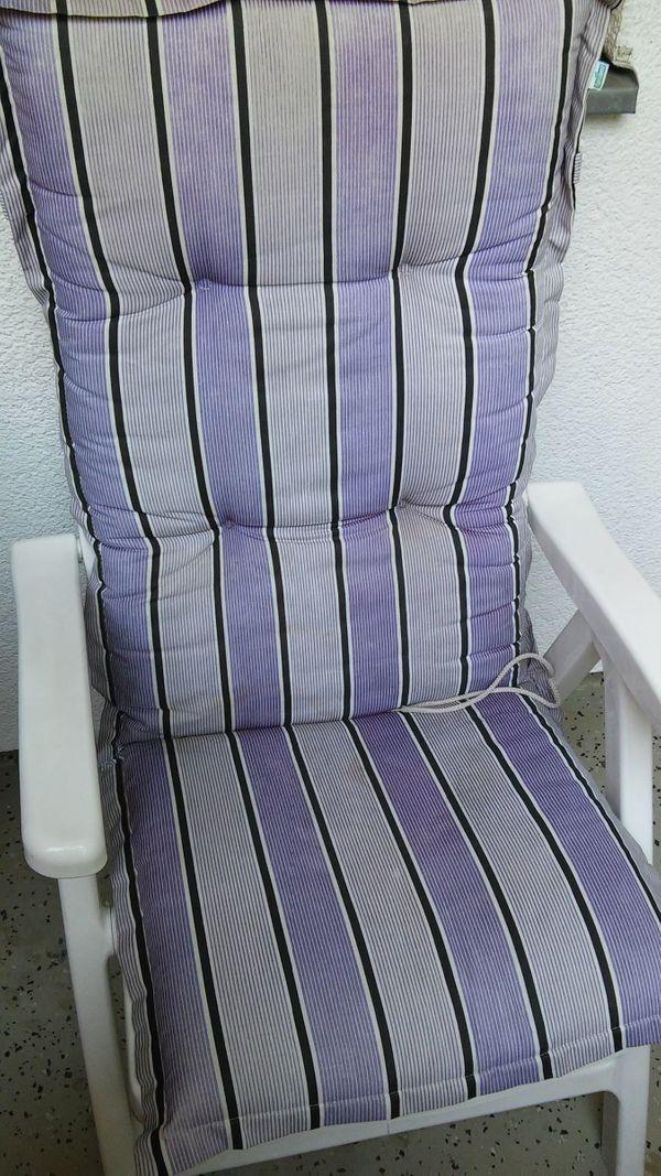 Stabiler weißer Garten- Terassen- Sessel