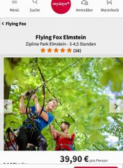 2x mydays Gutscheine - flying Fox